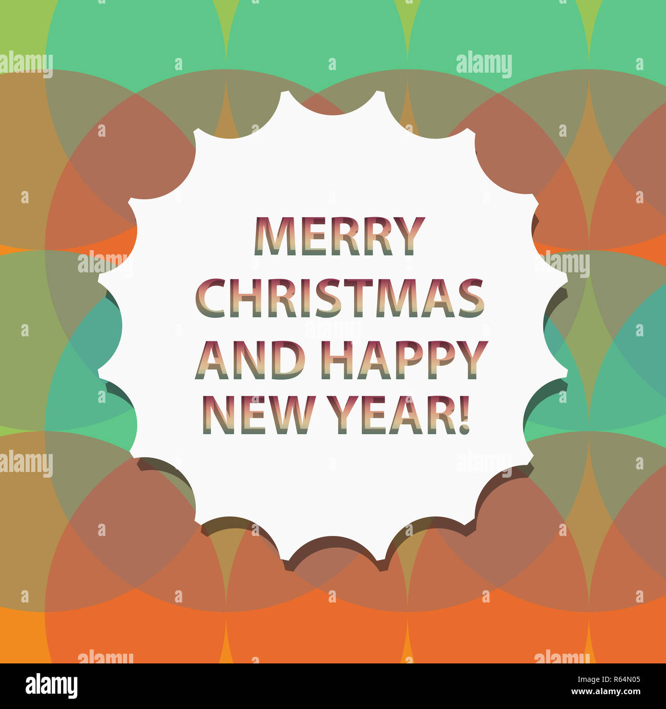 Word writing text Merry Christmas And Happy New Year