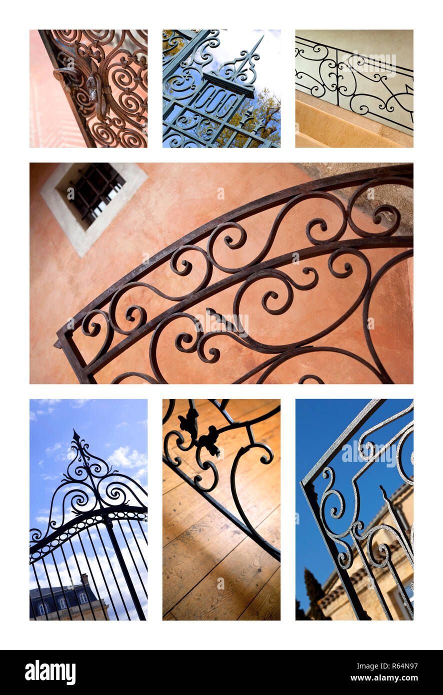 Gates and handrails Stock Photo