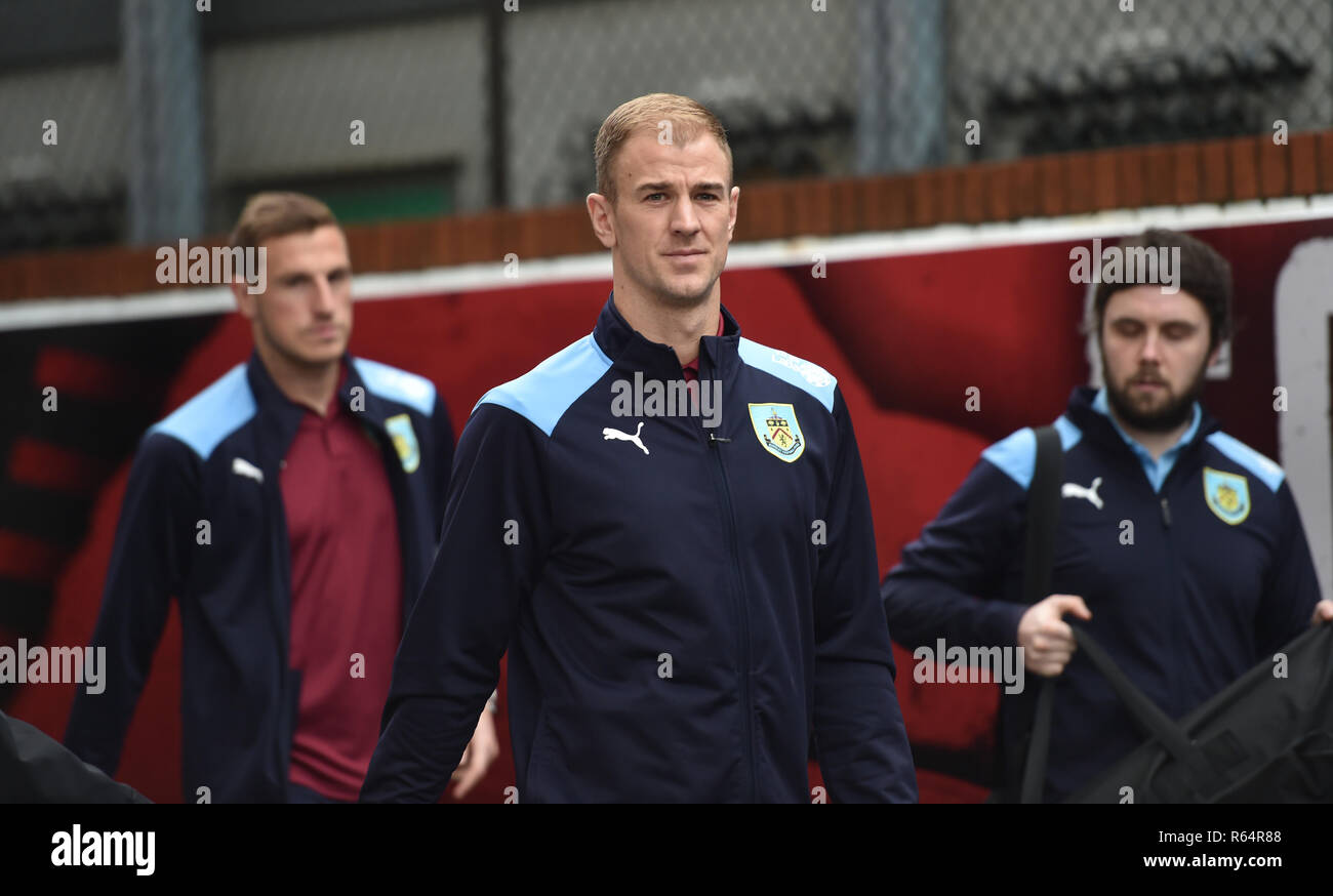 Joe Hart of Burnley arrives for the Premier League match between Crystal Palace and Burnley at Selhurst Park , London , 01 December 2018 Editorial use only. No merchandising. For Football images FA and Premier League restrictions apply inc. no internet/mobile usage without FAPL license - for details contact Football Dataco - Stock Image