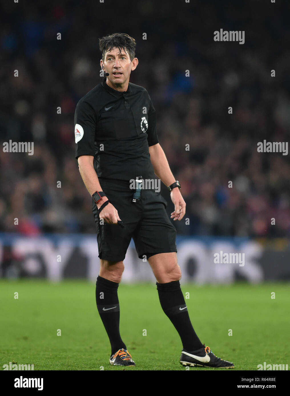 Referee Lee Probert during the Premier League match between Crystal Palace and Burnley at Selhurst Park , London , 01 December 2018 Editorial use only. No merchandising. For Football images FA and Premier League restrictions apply inc. no internet/mobile usage without FAPL license - for details contact Football Dataco - Stock Image
