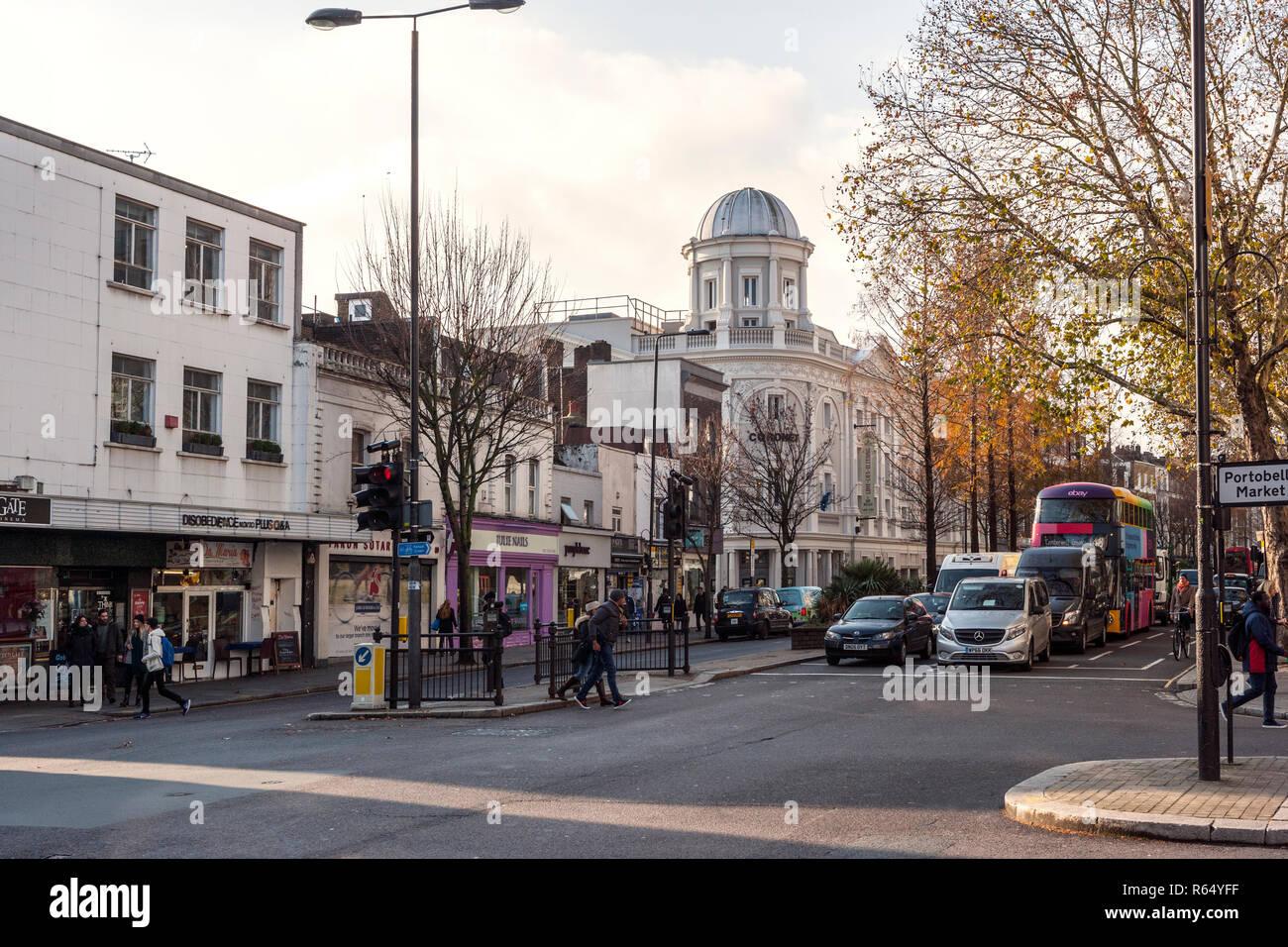 Notting Hill Gate, London - Stock Image