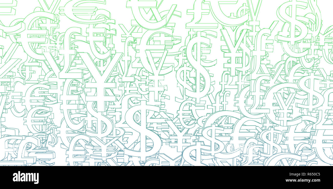 Global Currencies Background - Stock Image