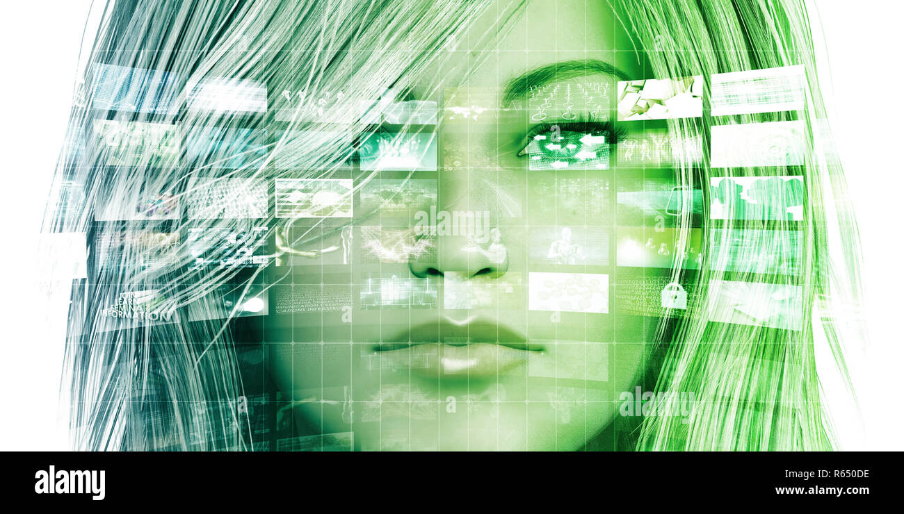 Empowered By Technology Stock Photo