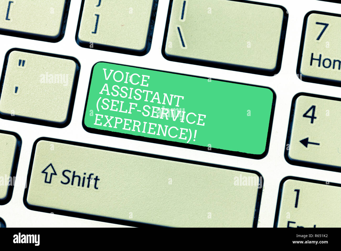 Word writing text Voice Assistant Self Service Experience  Business