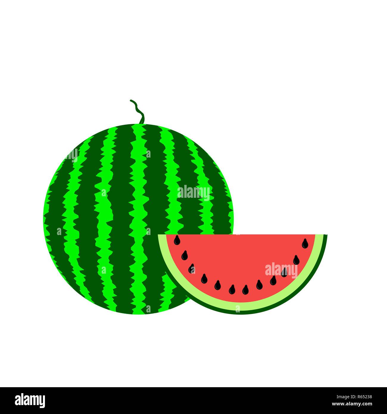 Fresh Slaced Ripe Watermelon - Stock Image