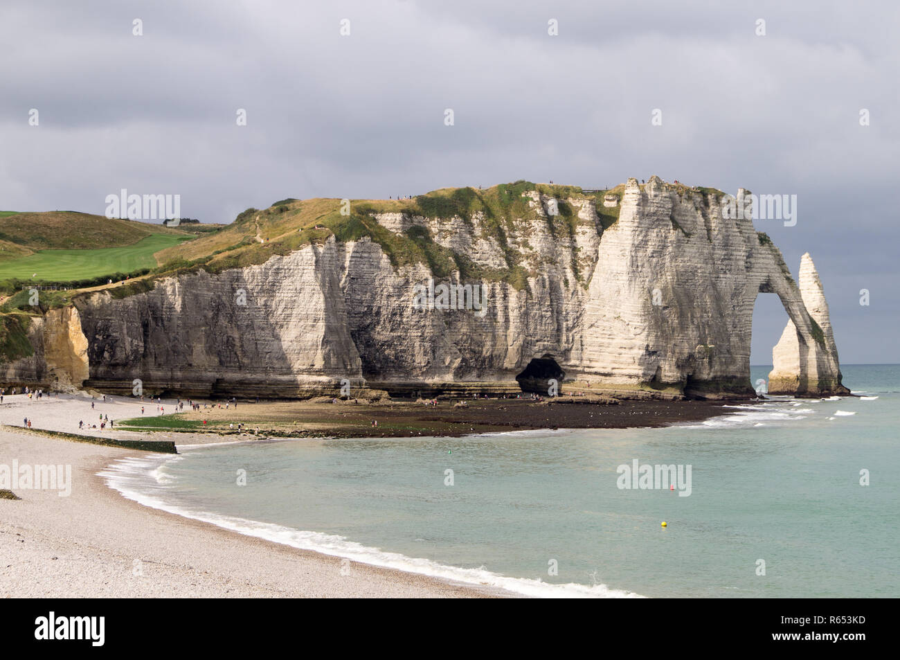 The cliffs of Etretat in Normandy - Stock Image