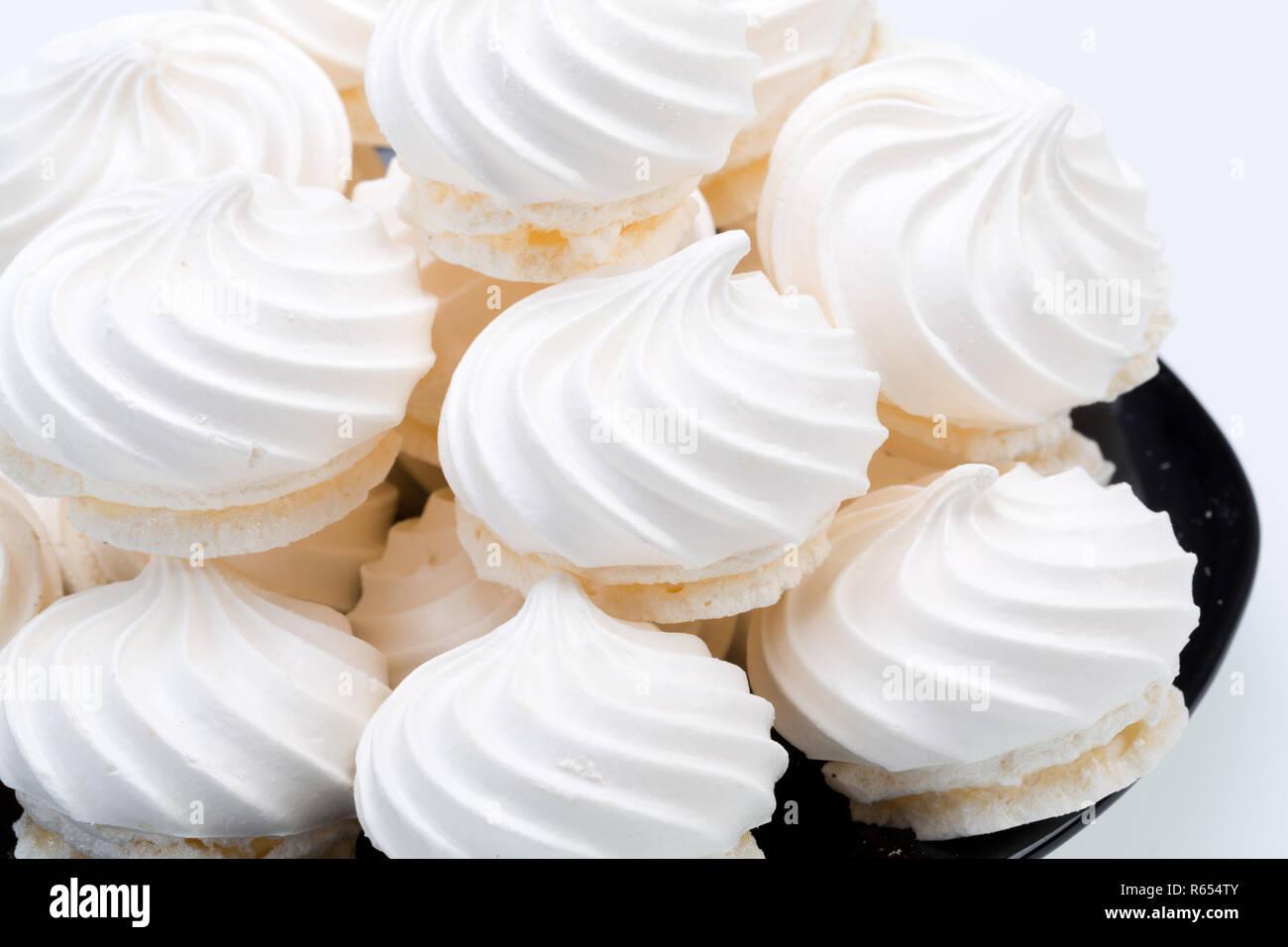 French vanilla meringue cookies - Stock Image