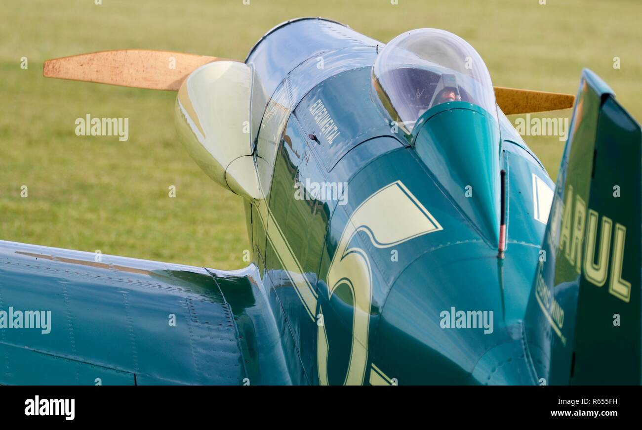 LeVier Cosmic Wind u0027G-ARULu0027 on static display at Old Warden Aerodrome - & Perspex Canopy Stock Photos u0026 Perspex Canopy Stock Images - Alamy