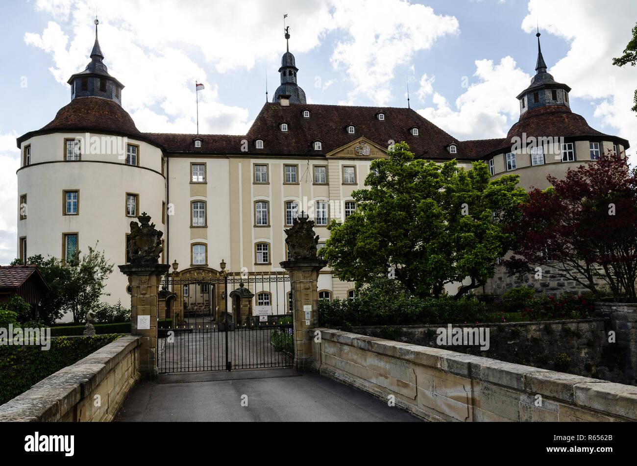 castle langenburg Stock Photo