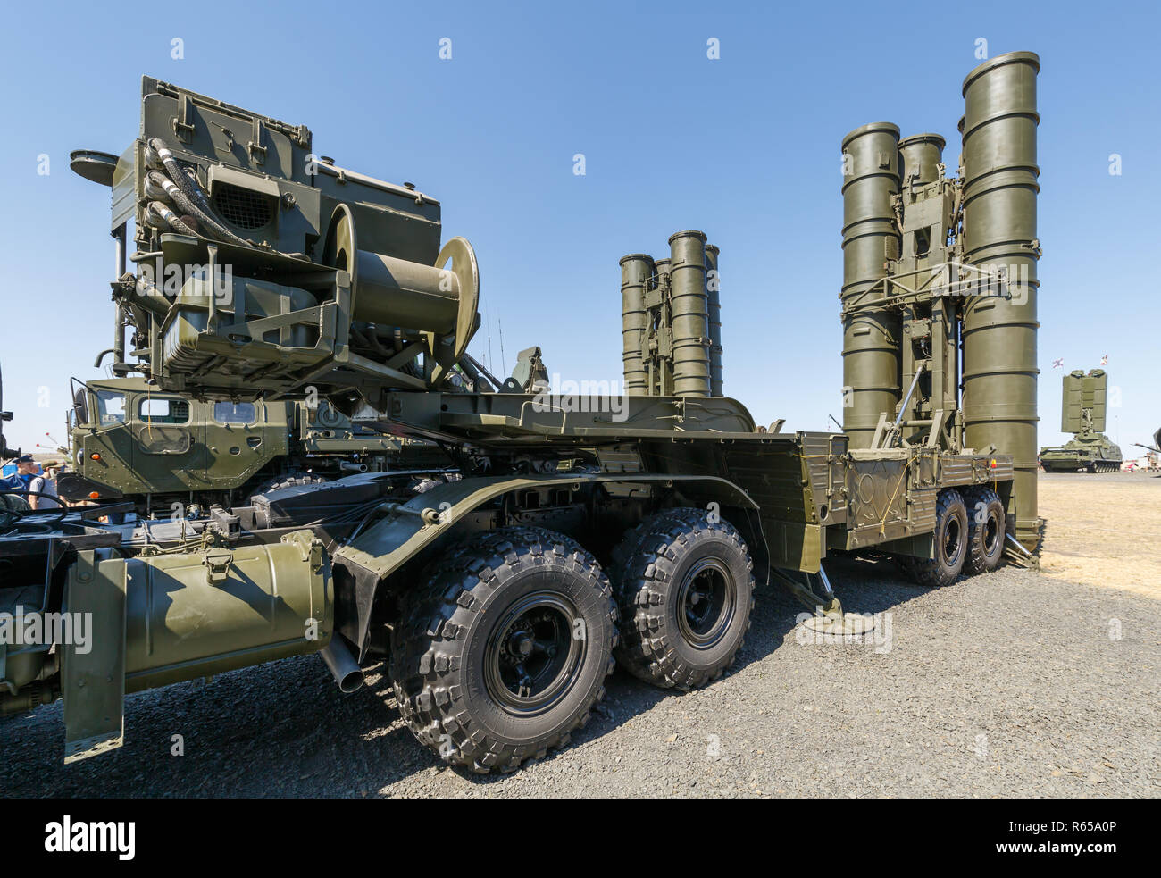 International military technical forum ARMY-2018. Launcher of the Russian anti-aircraft missile system S-400 Triumph - Stock Image