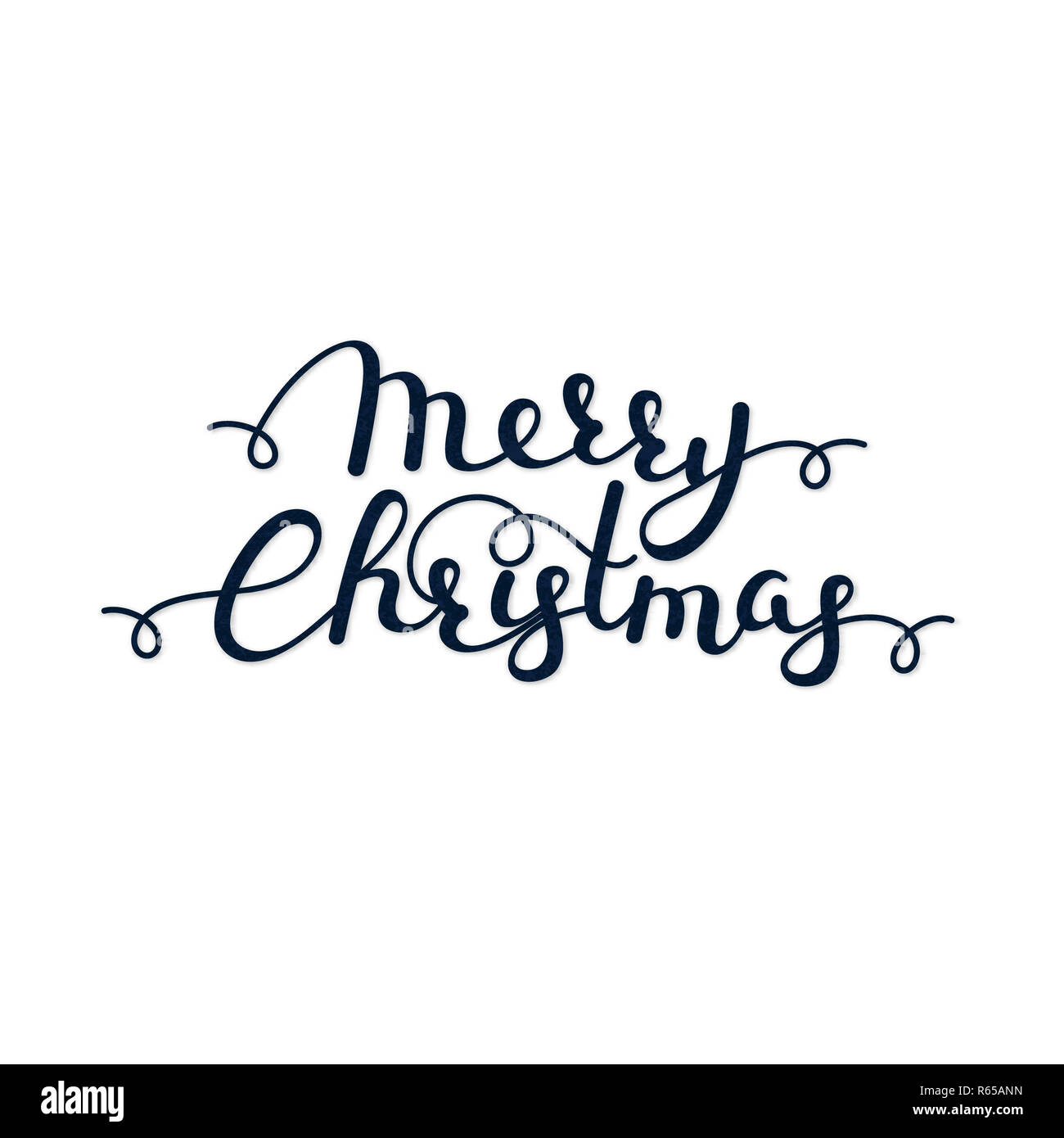 Christmas Calligraphy.Merry Christmas Handwritten Lettering Calligraphy Winter