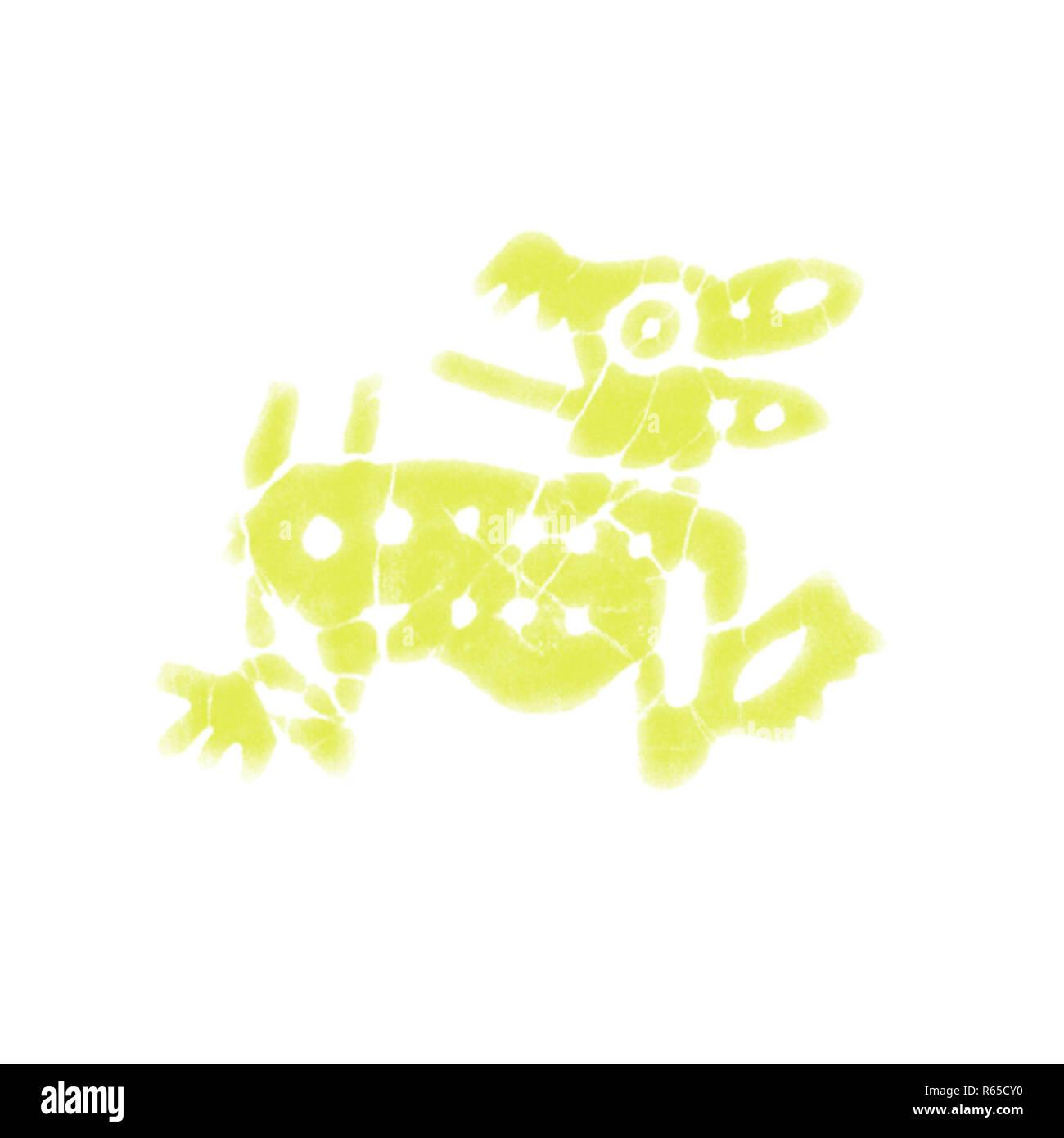 Primitive Tribal Animal Drawings - 5b.jpg - R65CY0 1R65CY0 - Stock Image