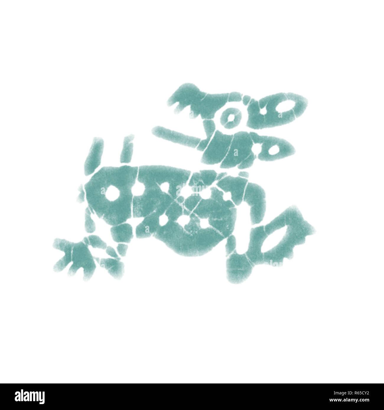 Primitive Tribal Animal Drawings - 5d.jpg - R65CY2 1R65CY2 - Stock Image