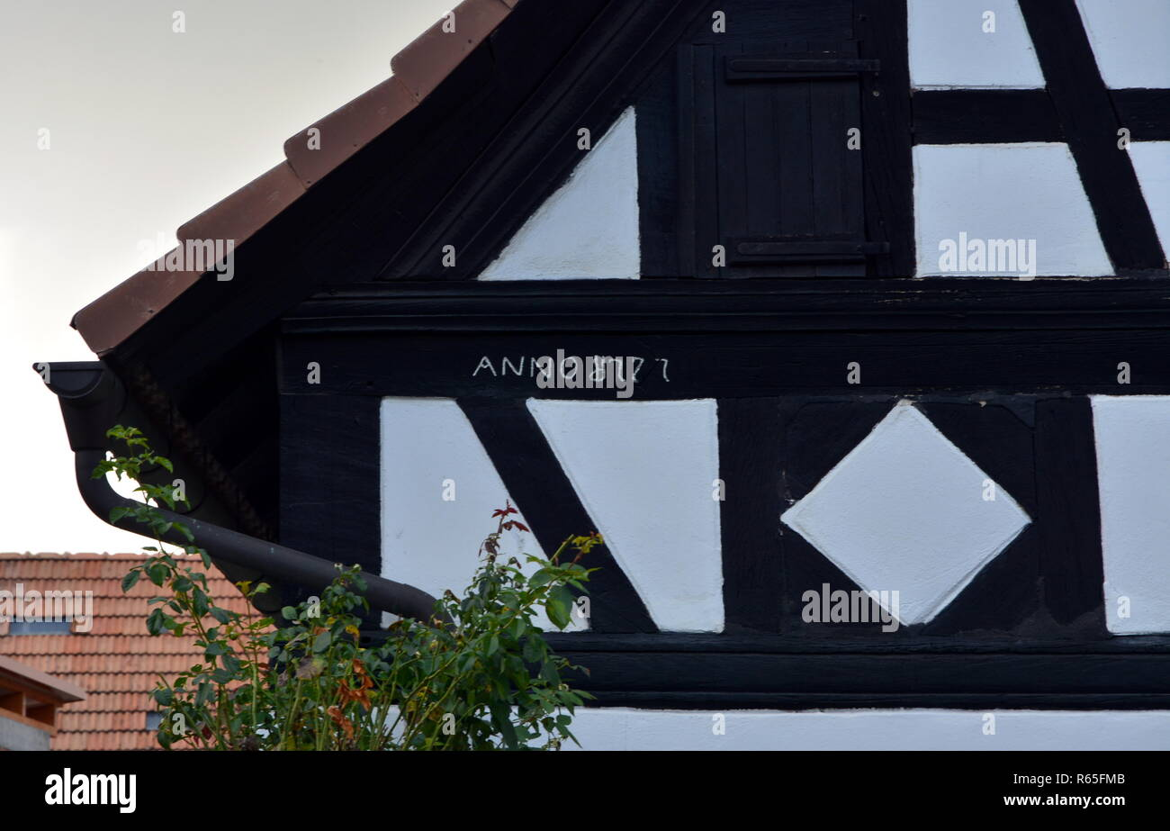 house inscription in neupotz in the palatinate Stock Photo