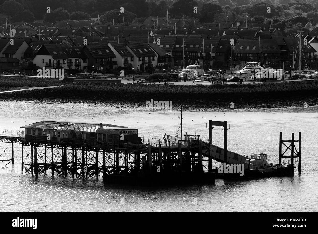 Hythe Town Pier, Hampshire, England, United Kingdom - Stock Image