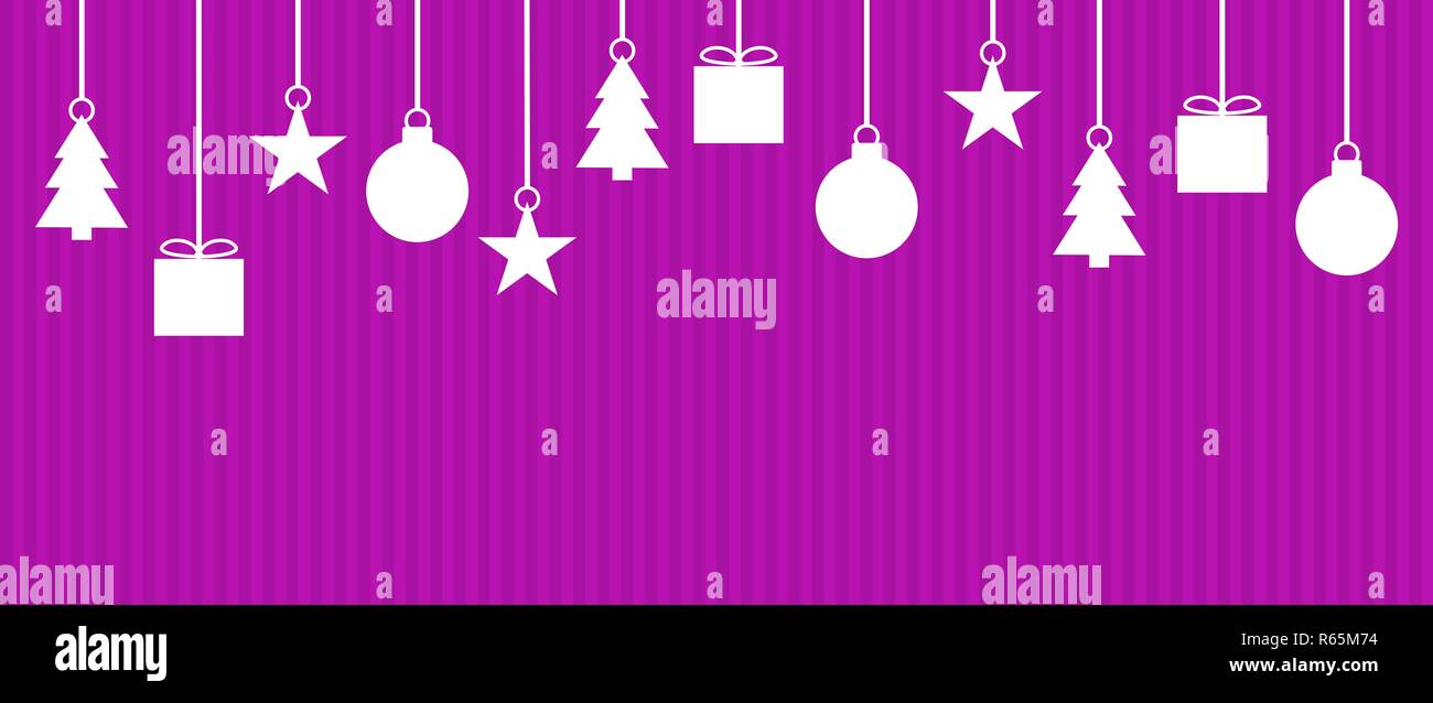 a15c06c9ba wide christmas background with pink purple stripes Stock Photo ...