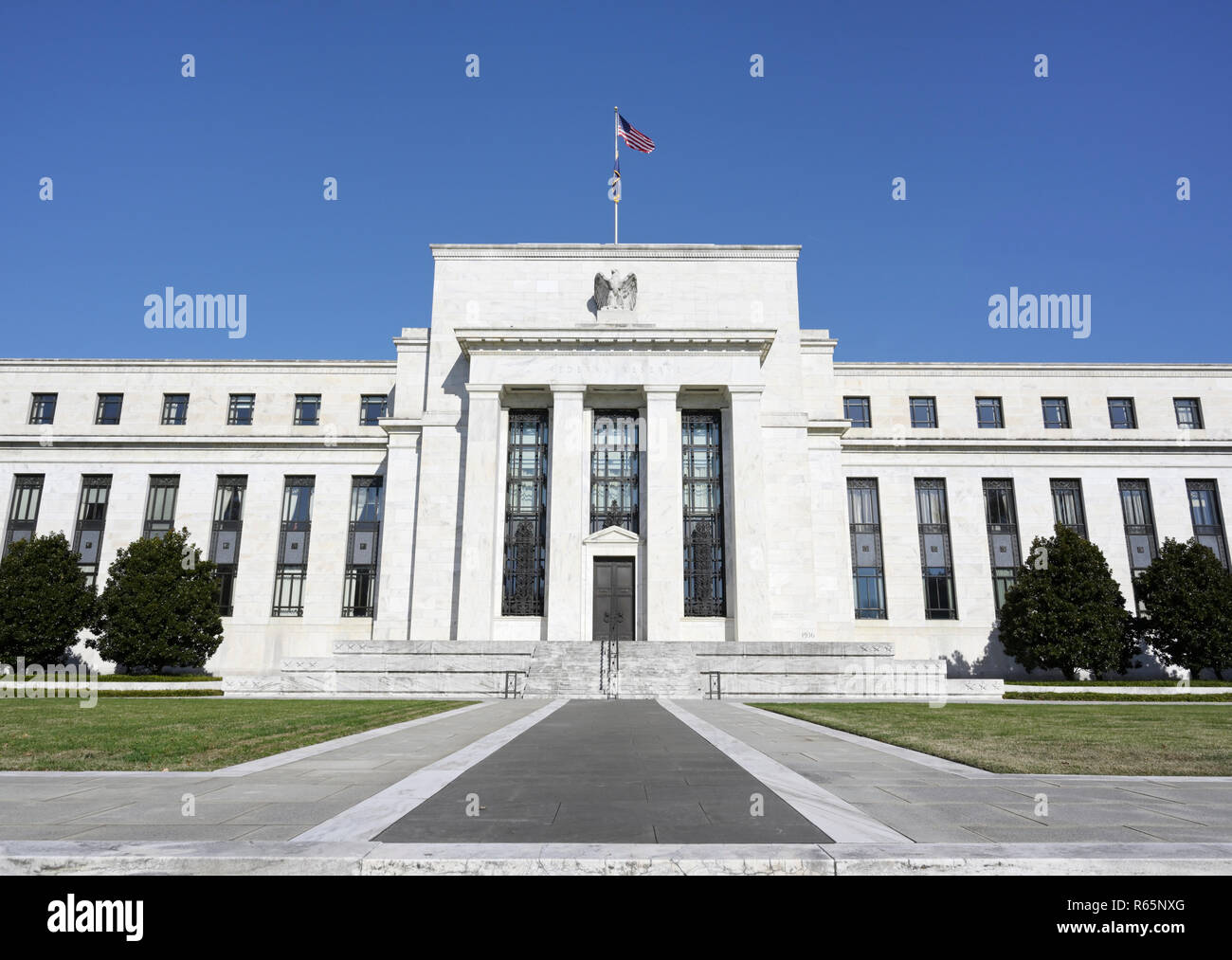 Federal Reserve Bank Building, Washington DC - Stock Image