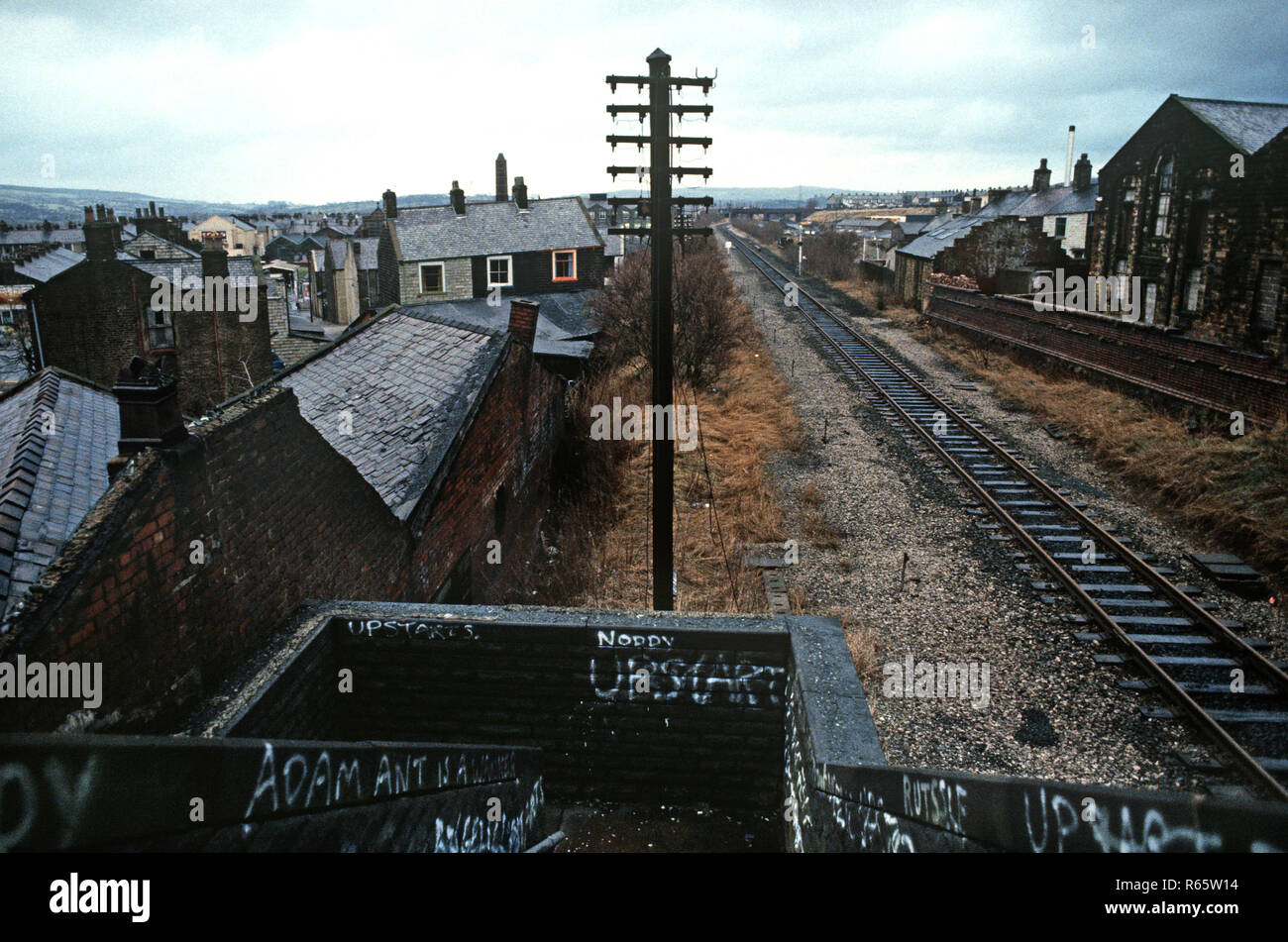 British Rail Preston to Colne railway line, Lancashire, Great Britain Stock Photo