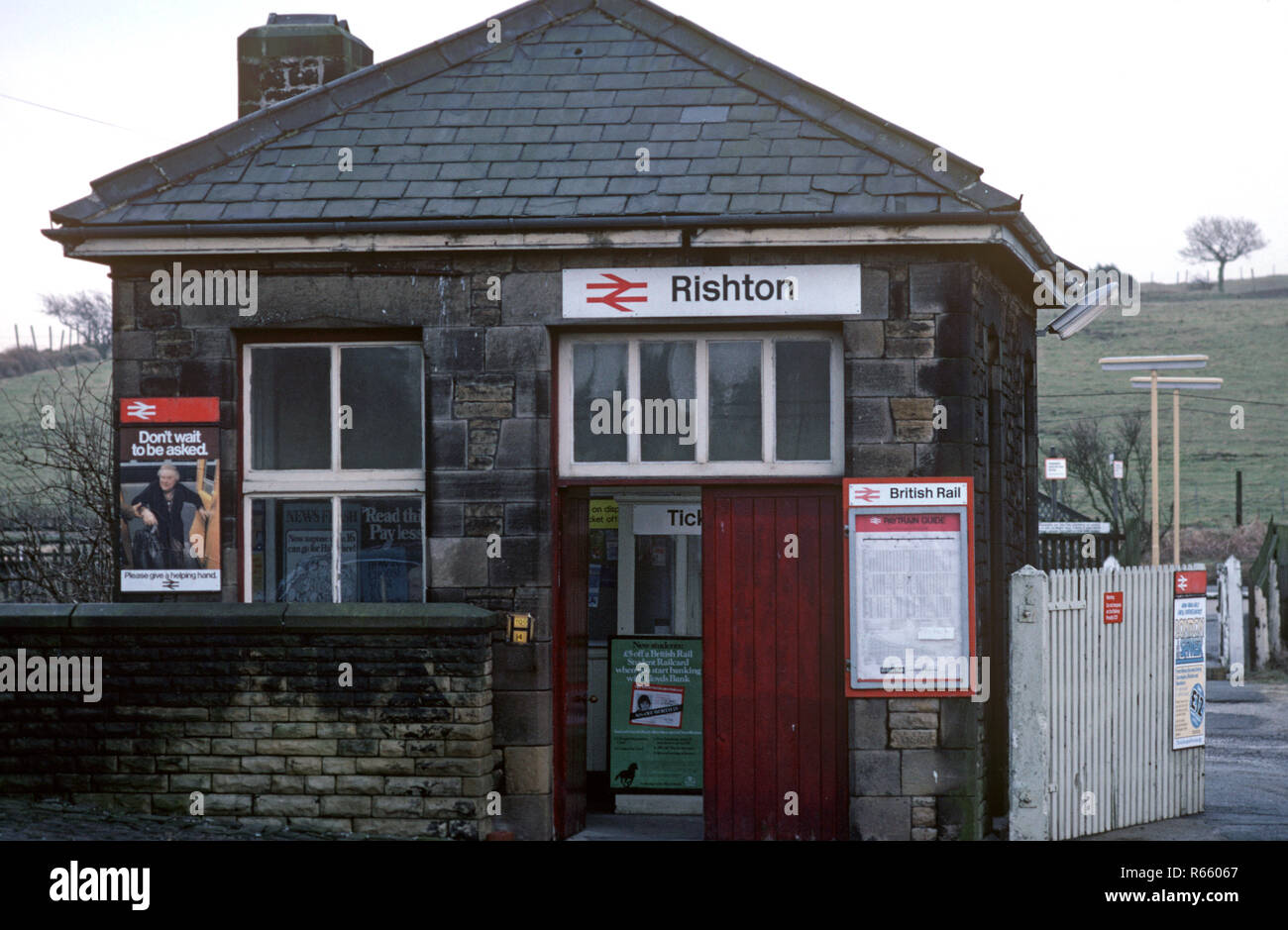 Rishton station on the British Rail Preston to Colne railway line, Lancashire, Great Britain - Stock Image