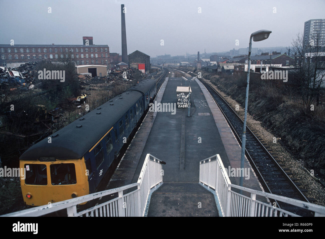 Lancs /& Yorks Railway. Nelson 2 Foulridge Colne Railway Station Photo