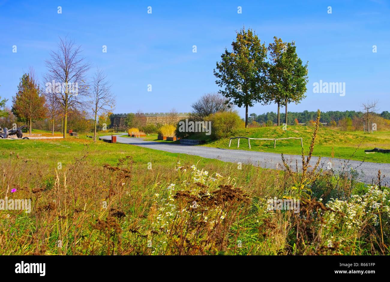 raddusch slawenburg - raddusch slavic fort - Stock Image