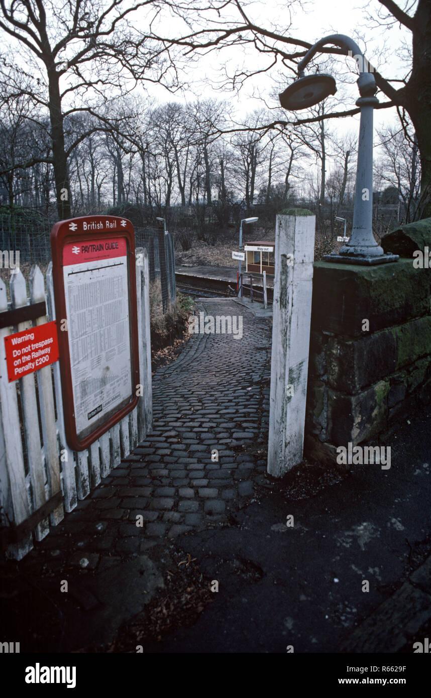 Pleasington station on the British Rail Preston to Colne railway line, Lancashire, Great Britain - Stock Image