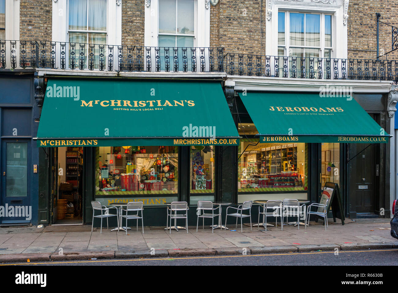 Mr Christian's Deli and Catering, Notting Hill, London - Stock Image