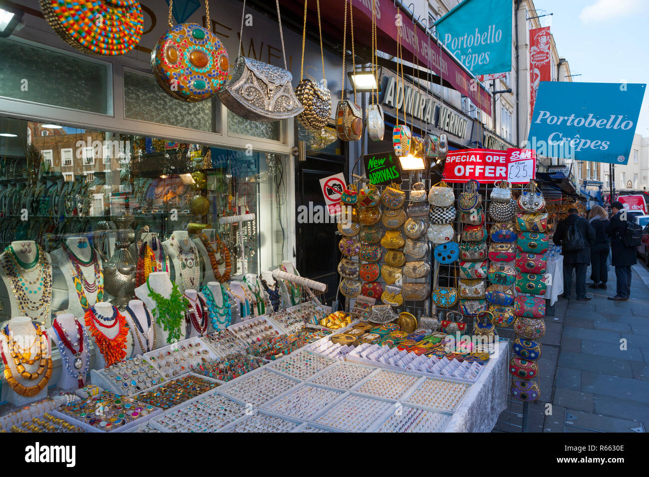 Almas Jewels, Portobello Road, Notting Hill, London - Stock Image