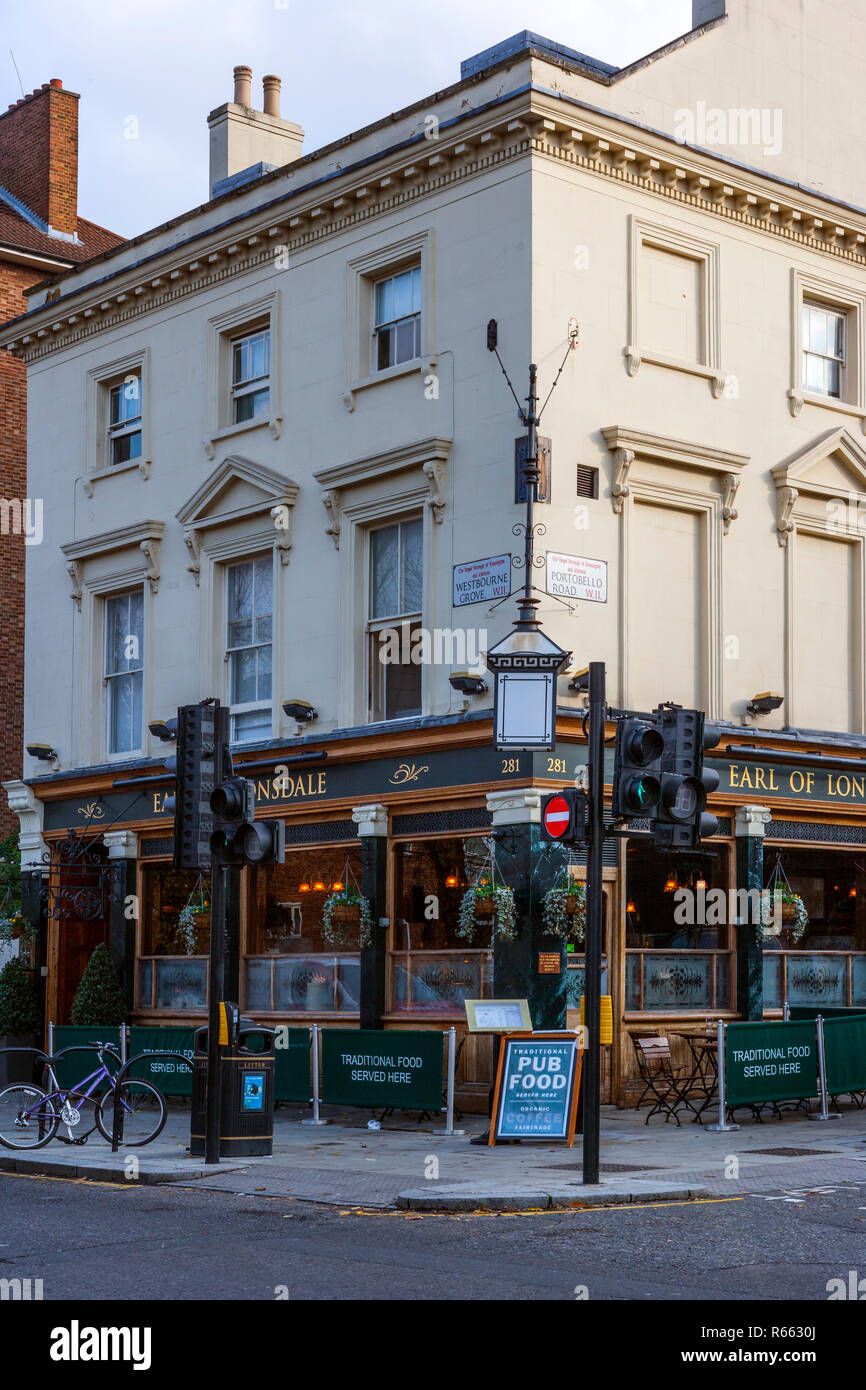Earl of Lonsdale, Notting Hill, London - Stock Image