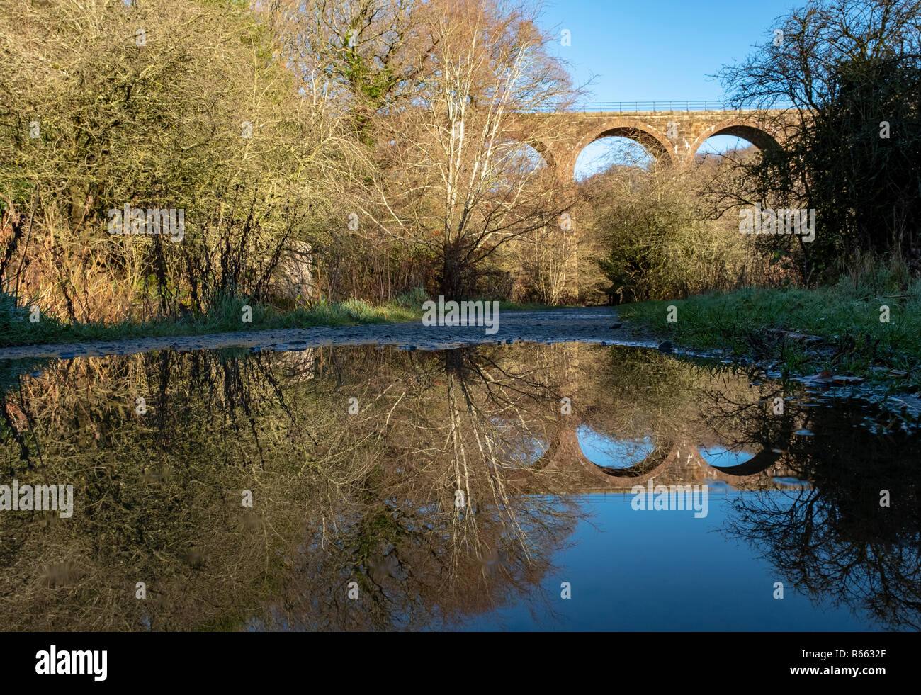 The Camps Railway viaduct, Almondell and Calderwood country park, West Lothian. Stock Photo