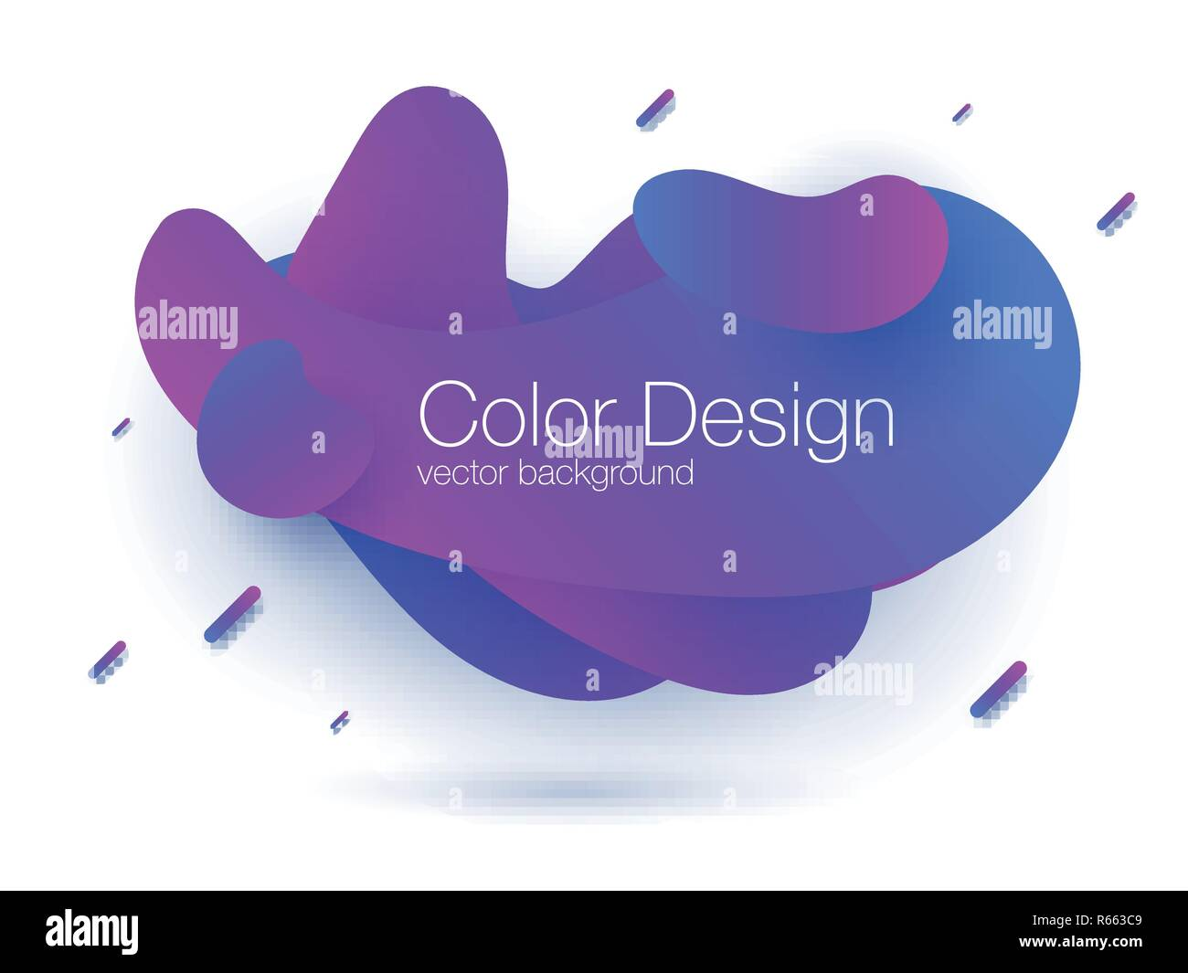 Abstract modern graphic elements. Dynamical colored forms and line. Gradient abstract banner. Stock vector - Stock Vector