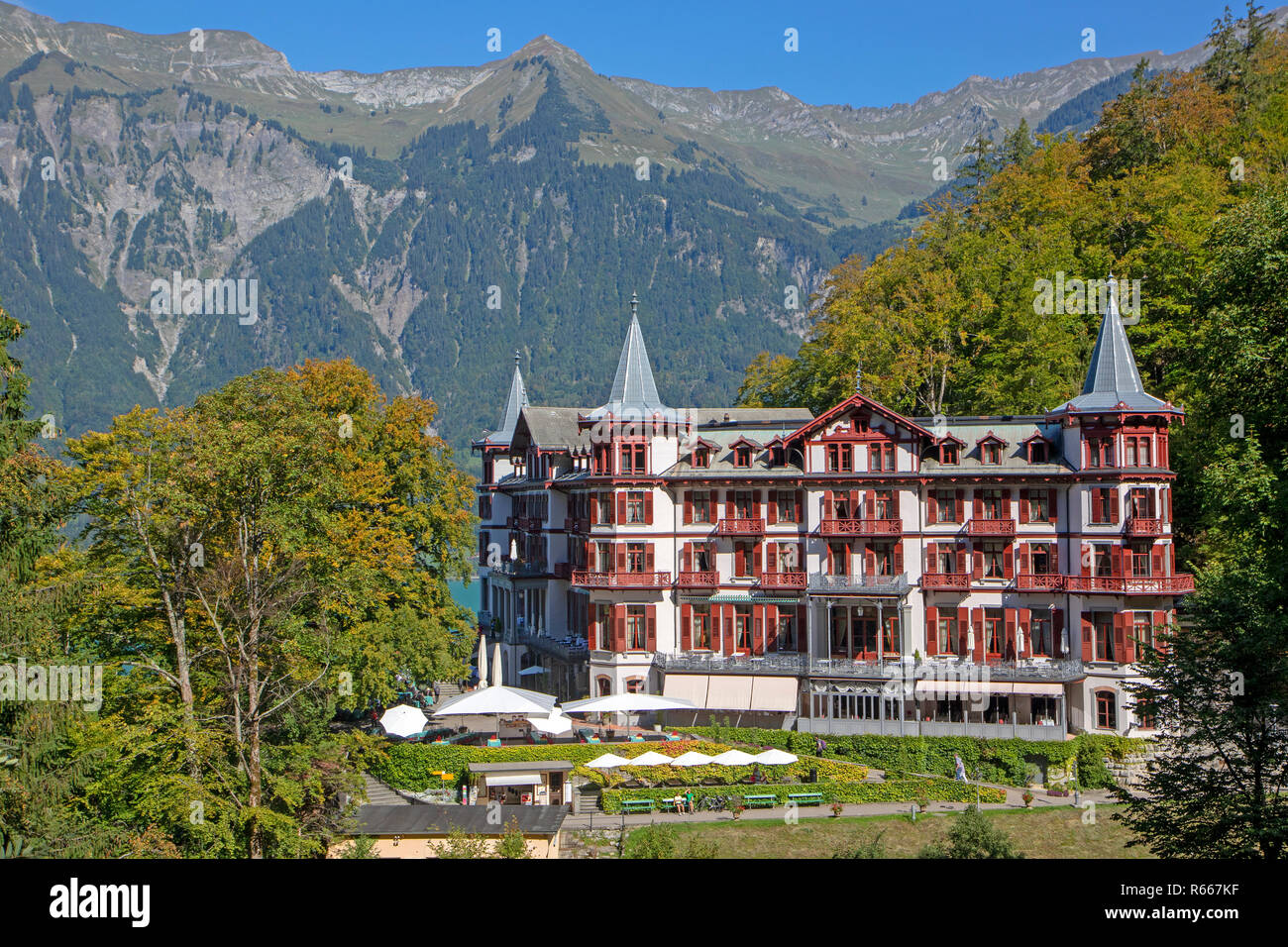 Grandhotel Giessbach Stock Photo