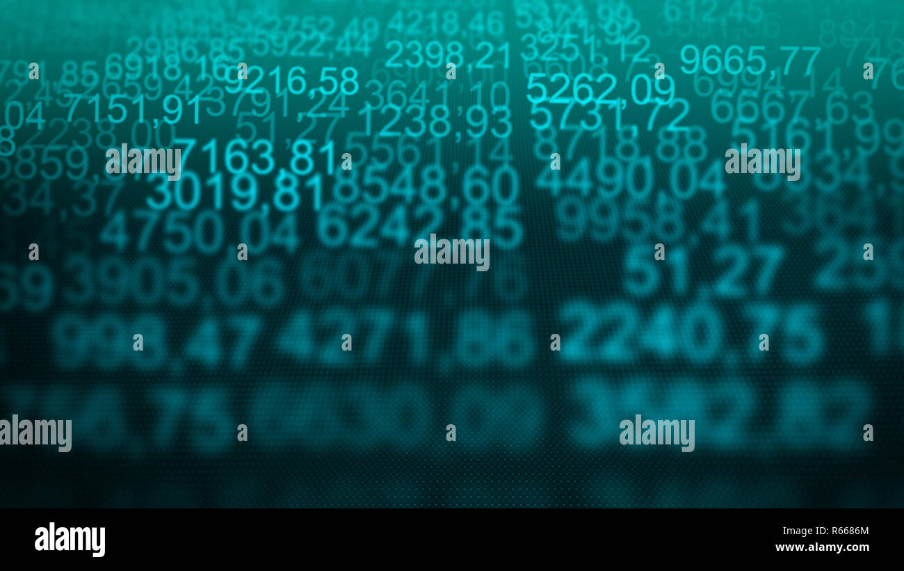 Incredible Random Numerical Data Table Grid Scree Blue Background Stock Download Free Architecture Designs Scobabritishbridgeorg