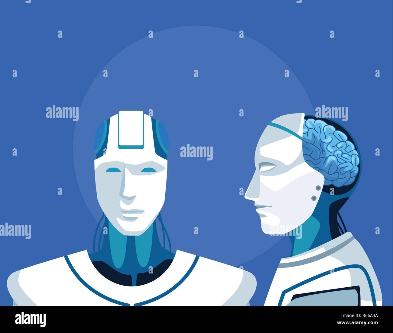 humanoid robot avatar - Stock Image