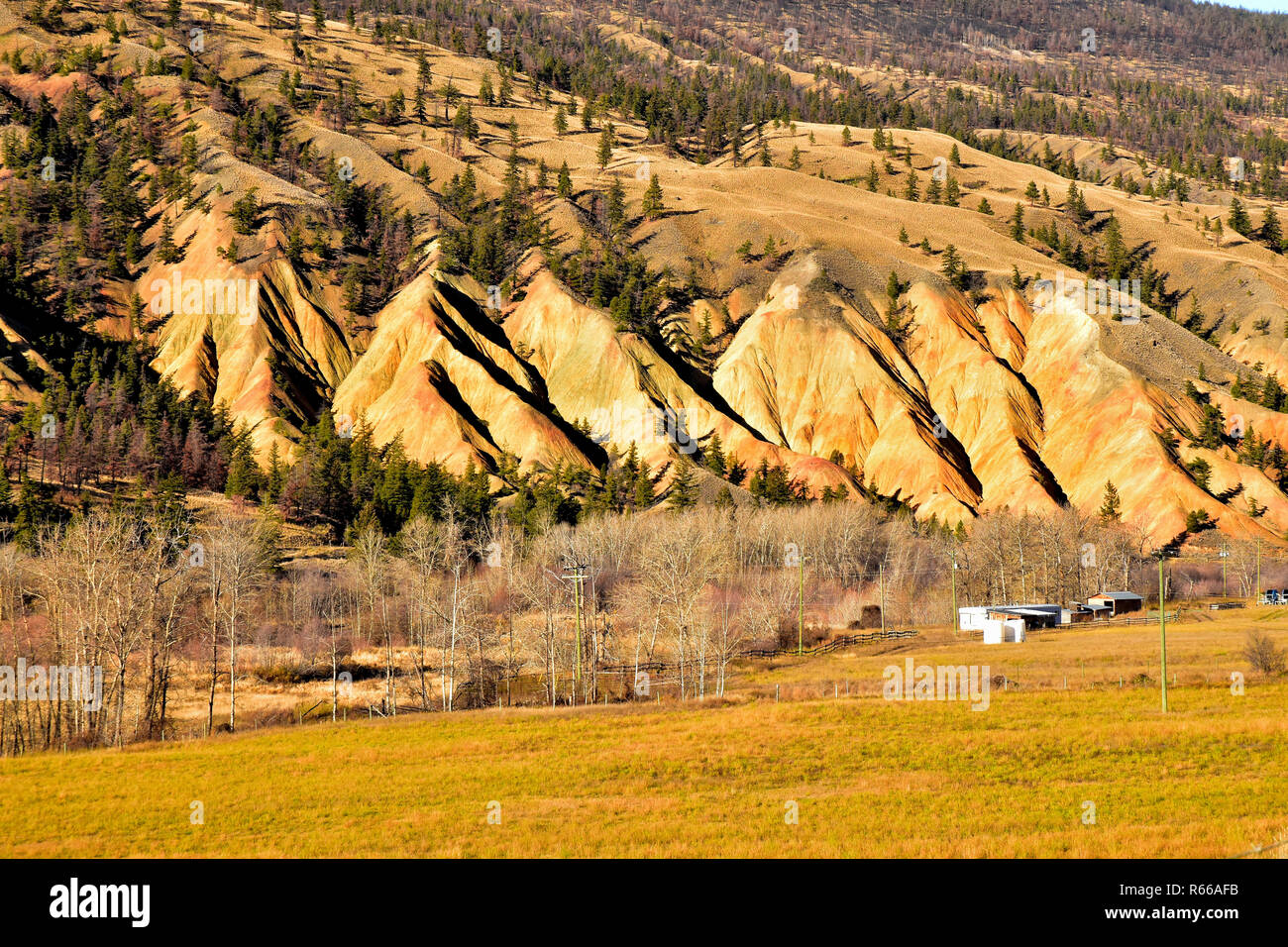 Painted Hills just north of Cache Creek, BC, Canada - Stock Image
