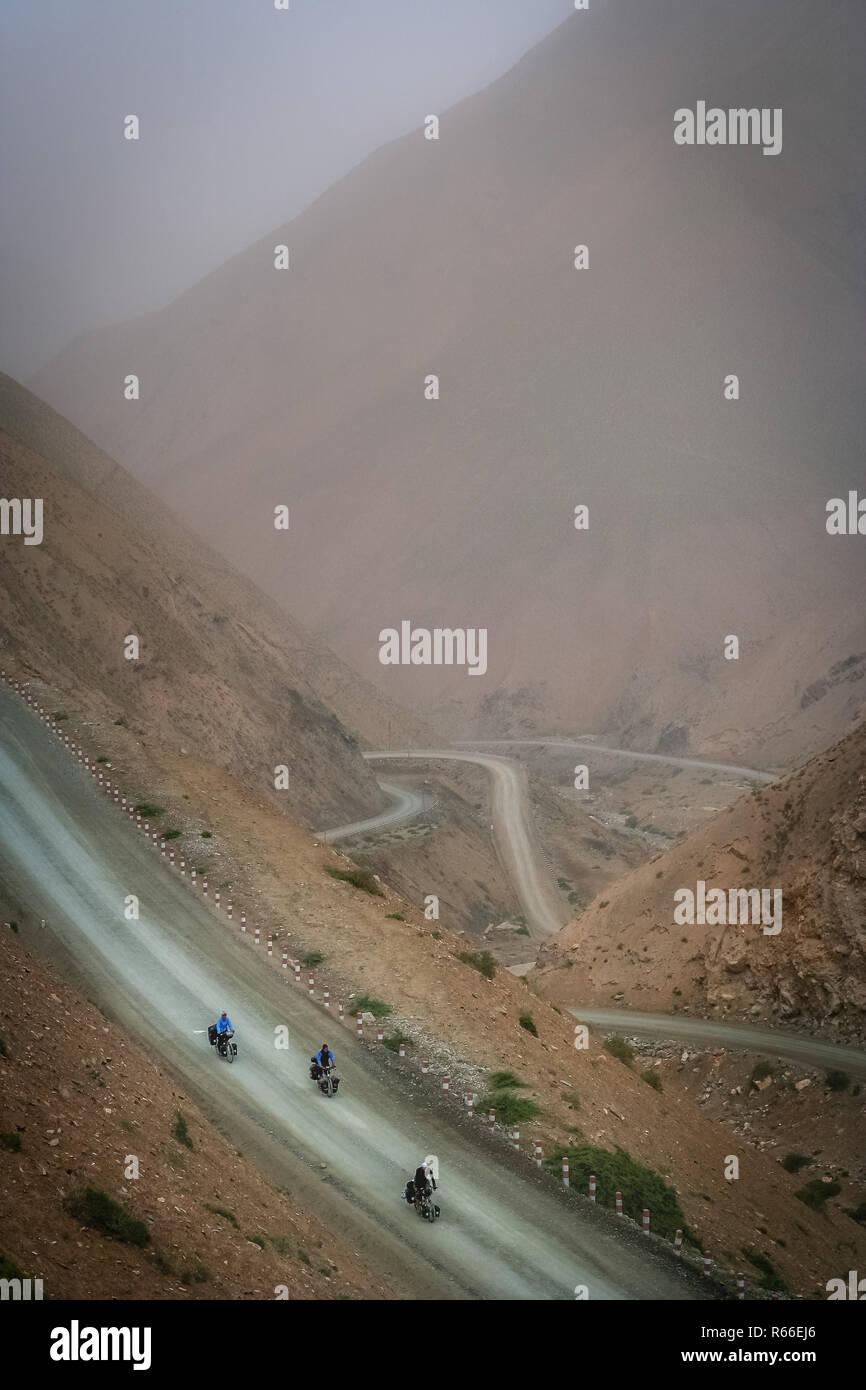 Trio in Tibet - Stock Image