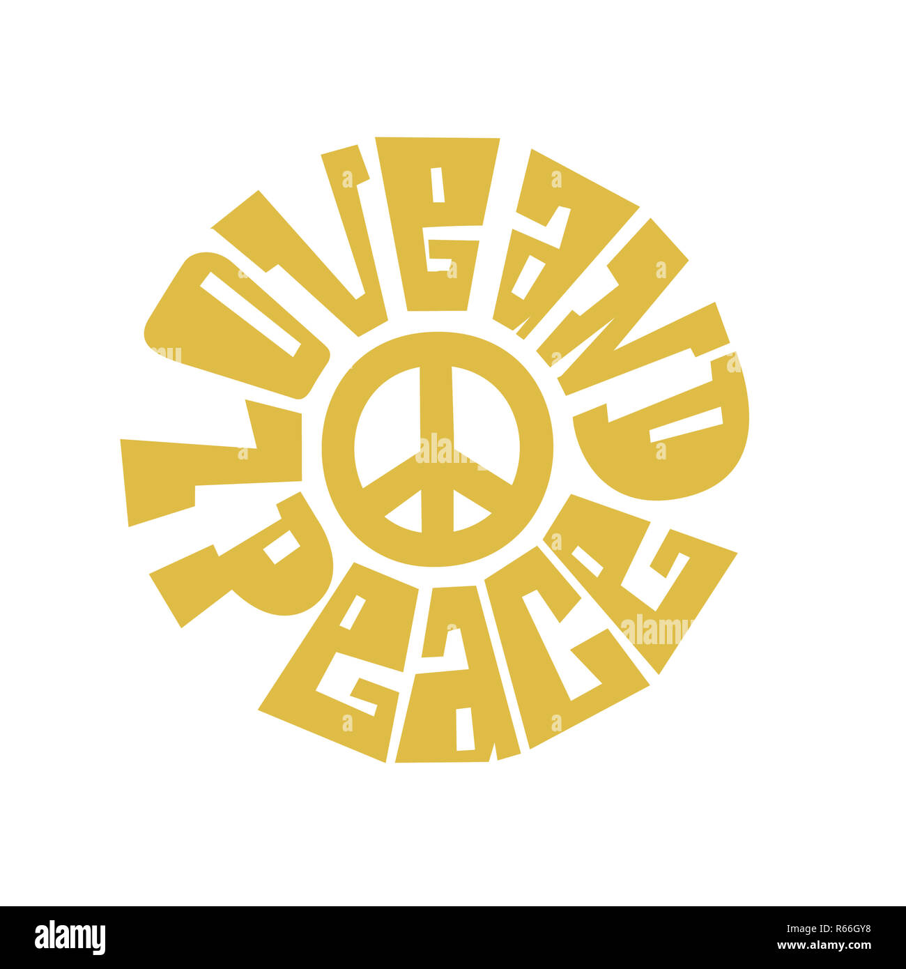 Love and Peace .jpg - R66GYH - Stock Image