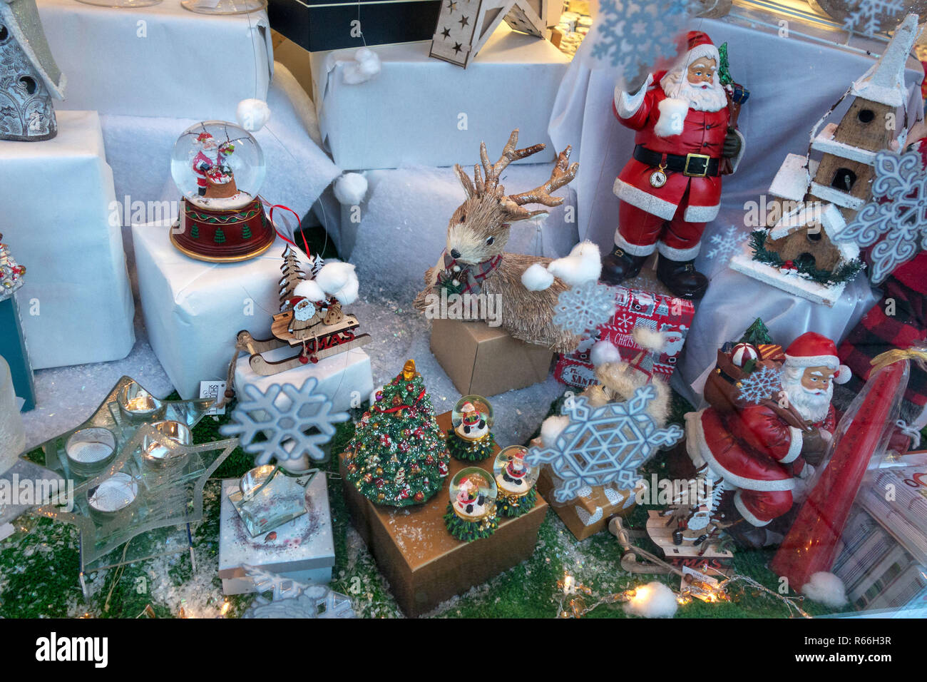Christmas Gift Ideas In A Small Shop Window In Dinnington Rotherham South Yorkshire England Stock Photo Alamy