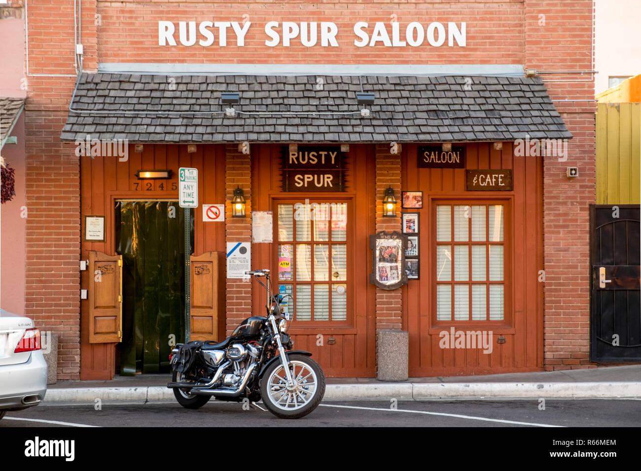 Rusty Spur Saloon, Old Town Scottsdale, Scottsdale, Phoenix, Arizona, USA - Stock Image