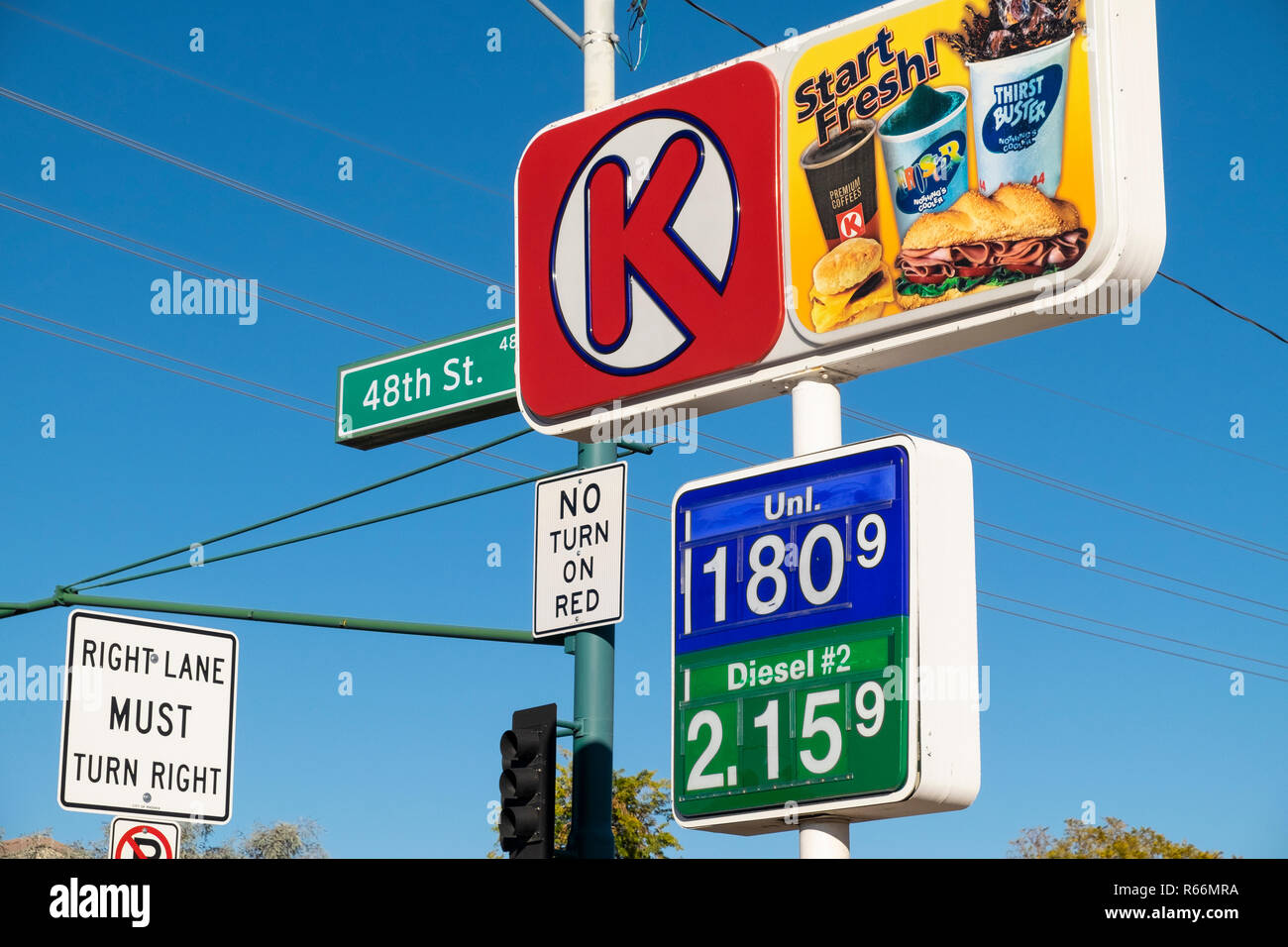 Circle K Gas Prices >> Circle K Fuel Prices On Raised Sign Phoenix Arizona Usa