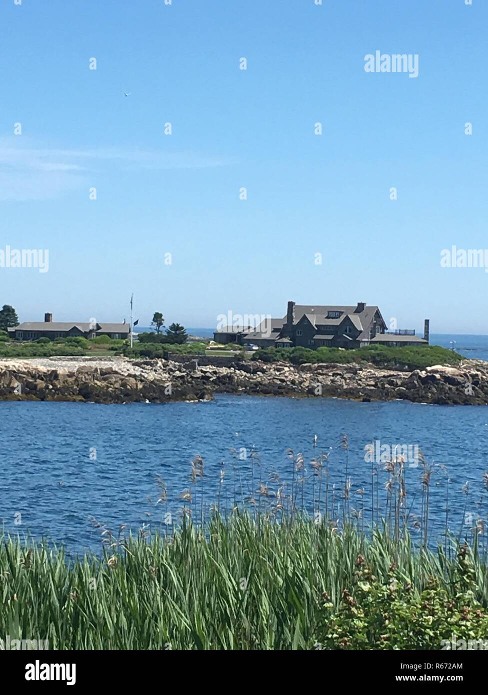 Kennebunkport Me Aug 1 The Bush Compound In Kennebunkport Main