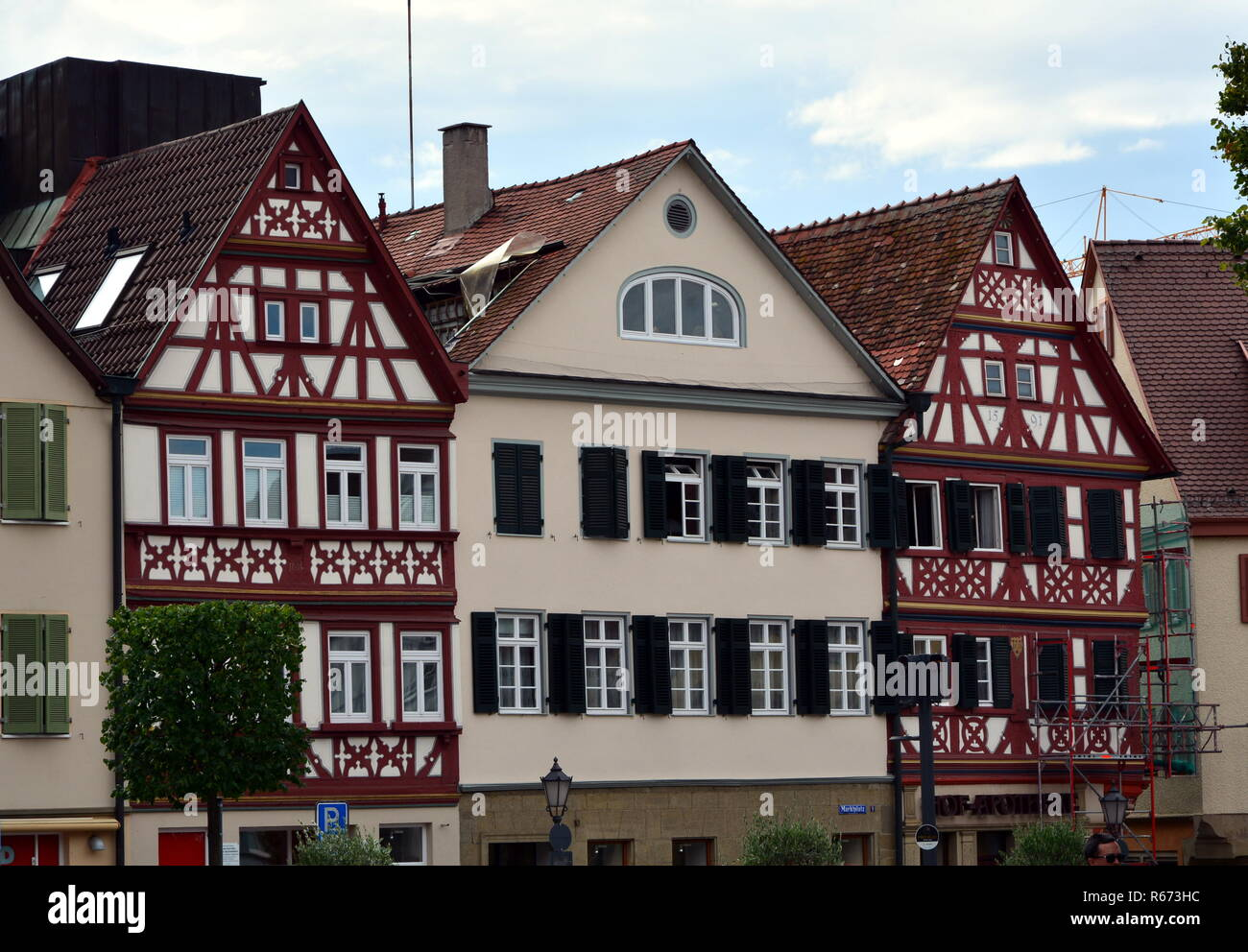 market place in oehringen Stock Photo