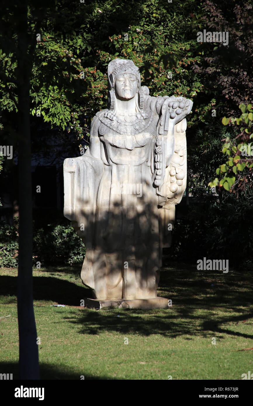 maria luisa park - antique statue - Stock Image