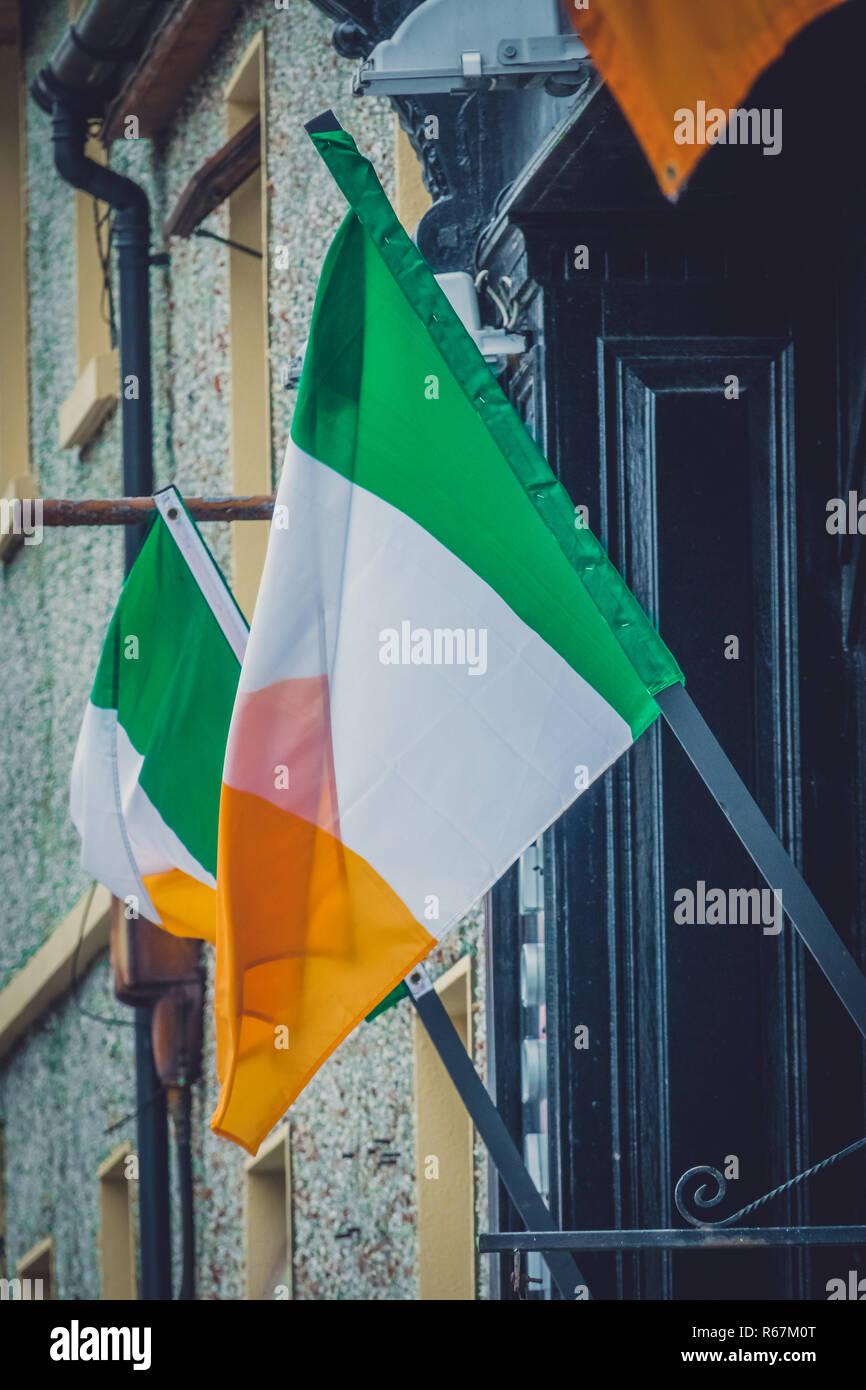 Flag of the Republic of Ireland Stock Photo