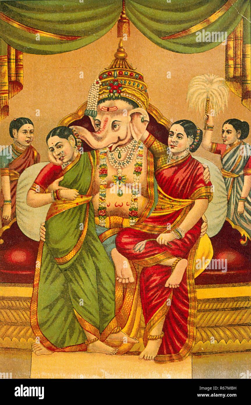 ganesh with riddhi siddhi