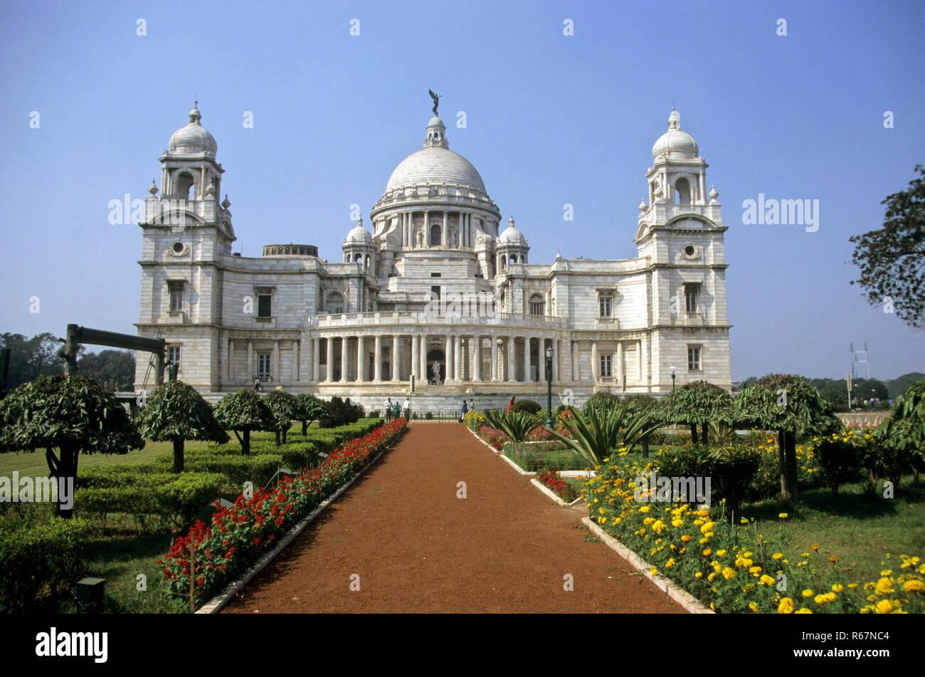 Victoria Memorial Building (1921), Calcutta, West Bengal, India - Stock Image