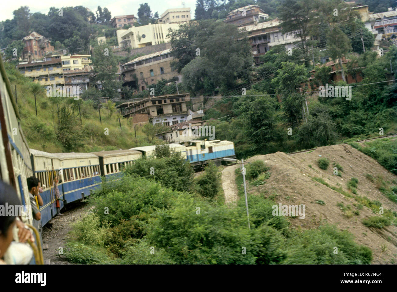 Trains Railways, kalka shimla train journey, himachal pradesh, india - Stock Image