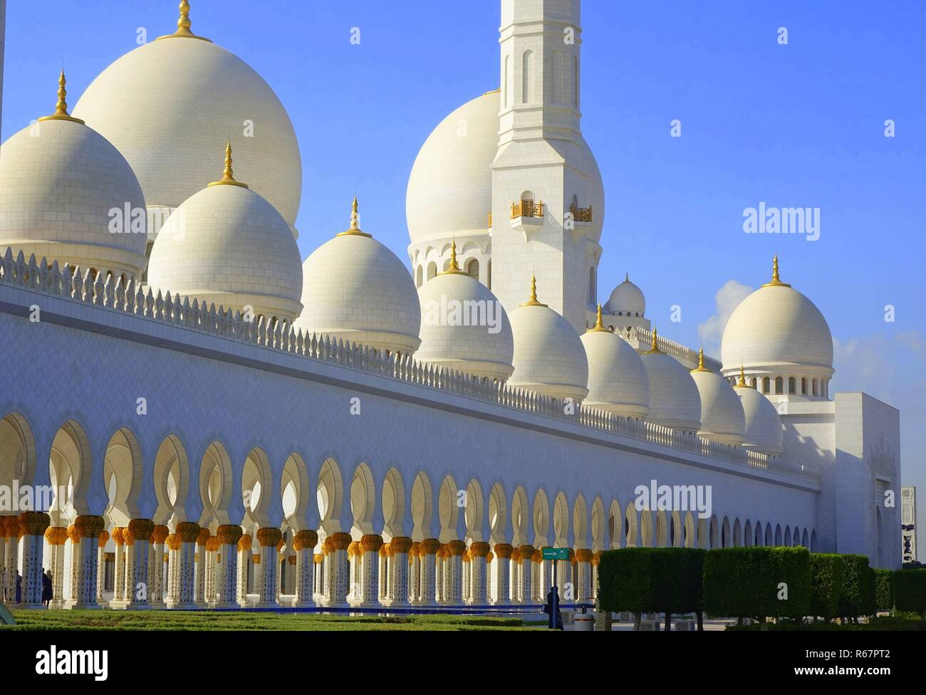 sheikh zayed mosque - Stock Image