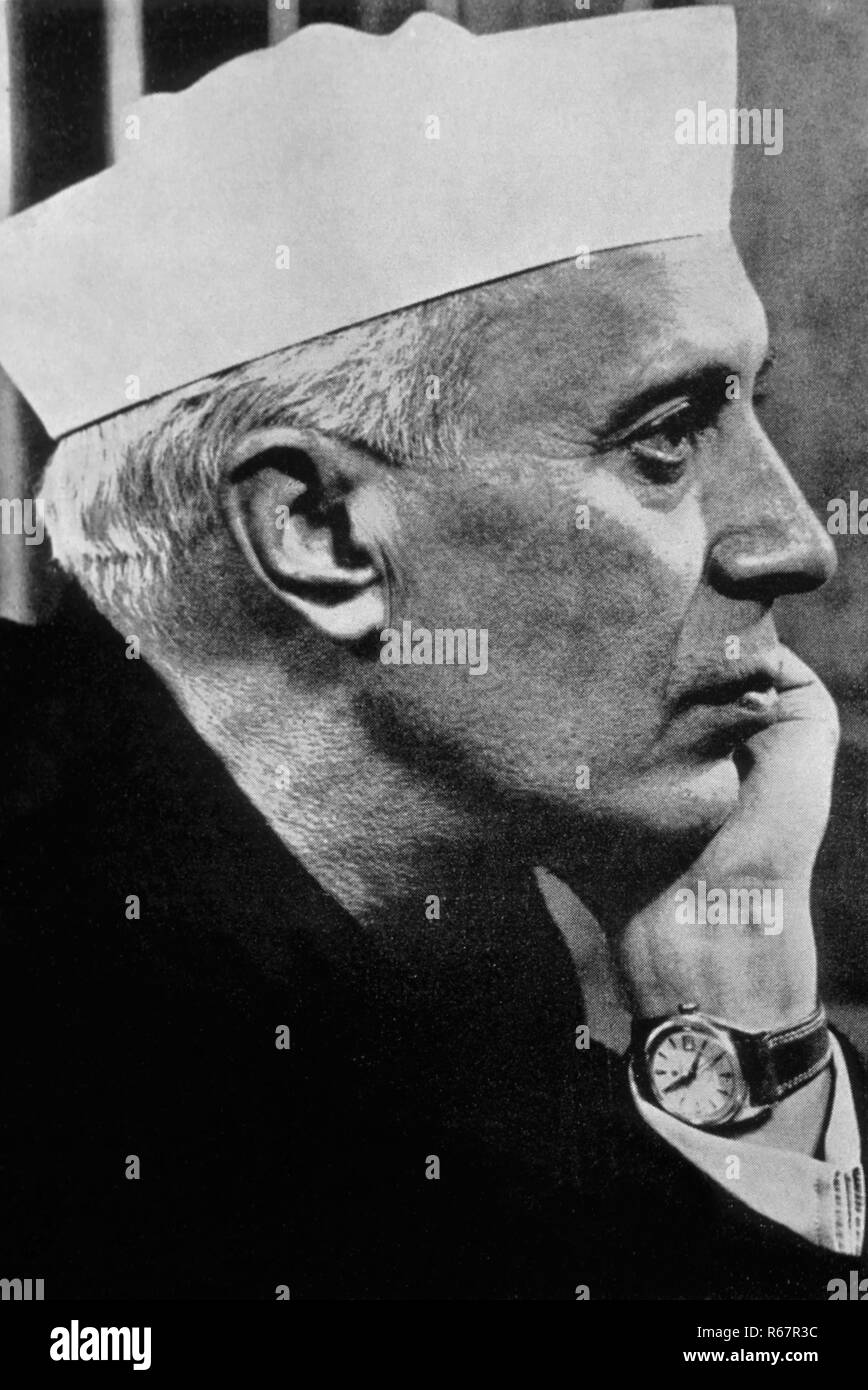 Pandit Jawaharlal Nehru MODEL RELEASE NOT AVAILABLE - Stock Image