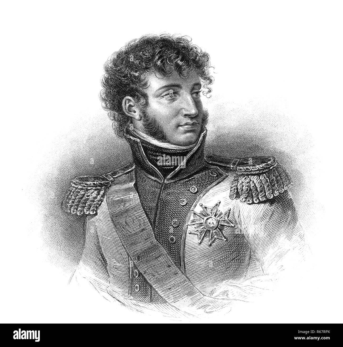 JOACHIM MURAT (1767-1815) Marshal and Admiral of France under Napoleon - Stock Image